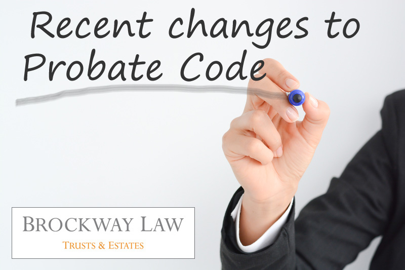 Code changes could impact probate law in Santa Rosa, CA